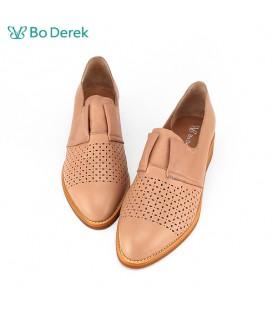 Bo Derek 學院復古牛津鞋-膚色
