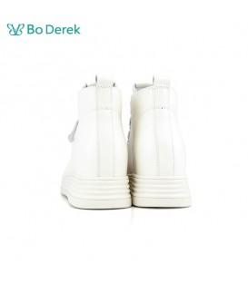 Bo Derek 高筒自黏帶增高休閒鞋-白色