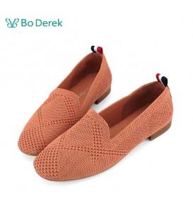 Bo Derek 彈力針織懶人休閒鞋-磚紅