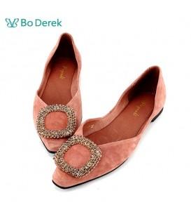 Bo Derek 鑽飾側空平底鞋-粉色
