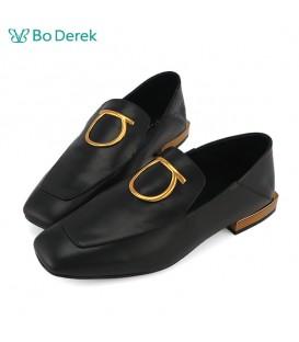 Bo Derek 方頭漆皮樂福鞋-黑